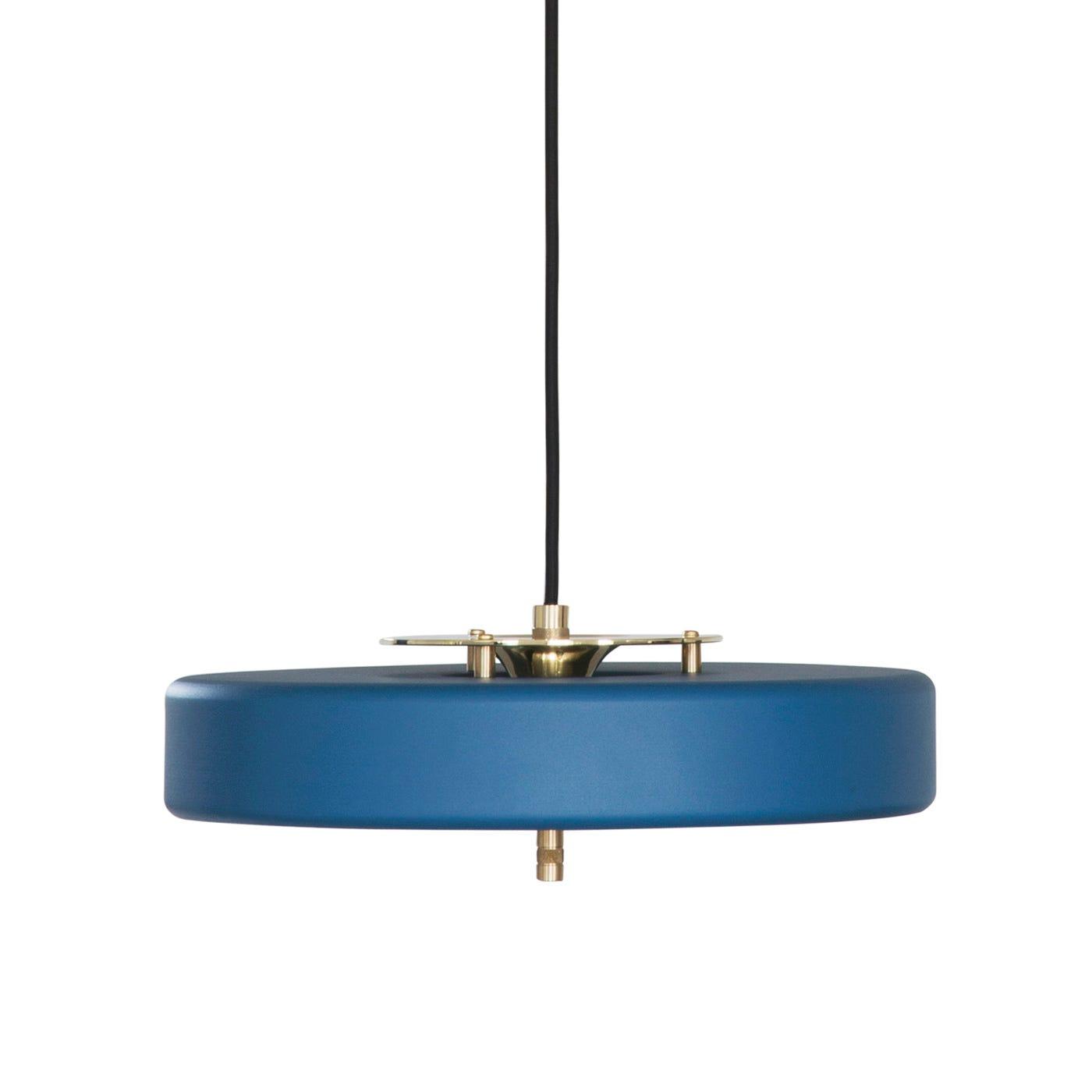 Revolve Pendant Brass & Matte Petrol Blue
