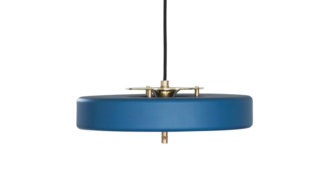Blue Pendant Light Part - 46: Revolve Pendant Brass U0026 Matte Petrol Blue