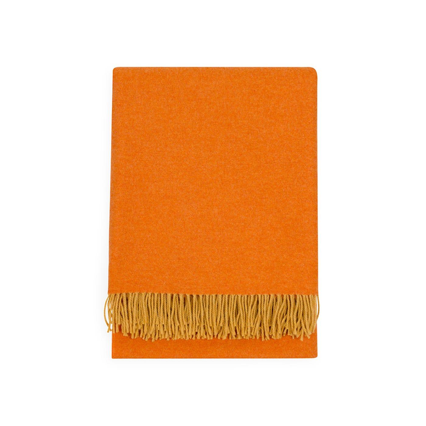 Two Tone Merino Throw Orange