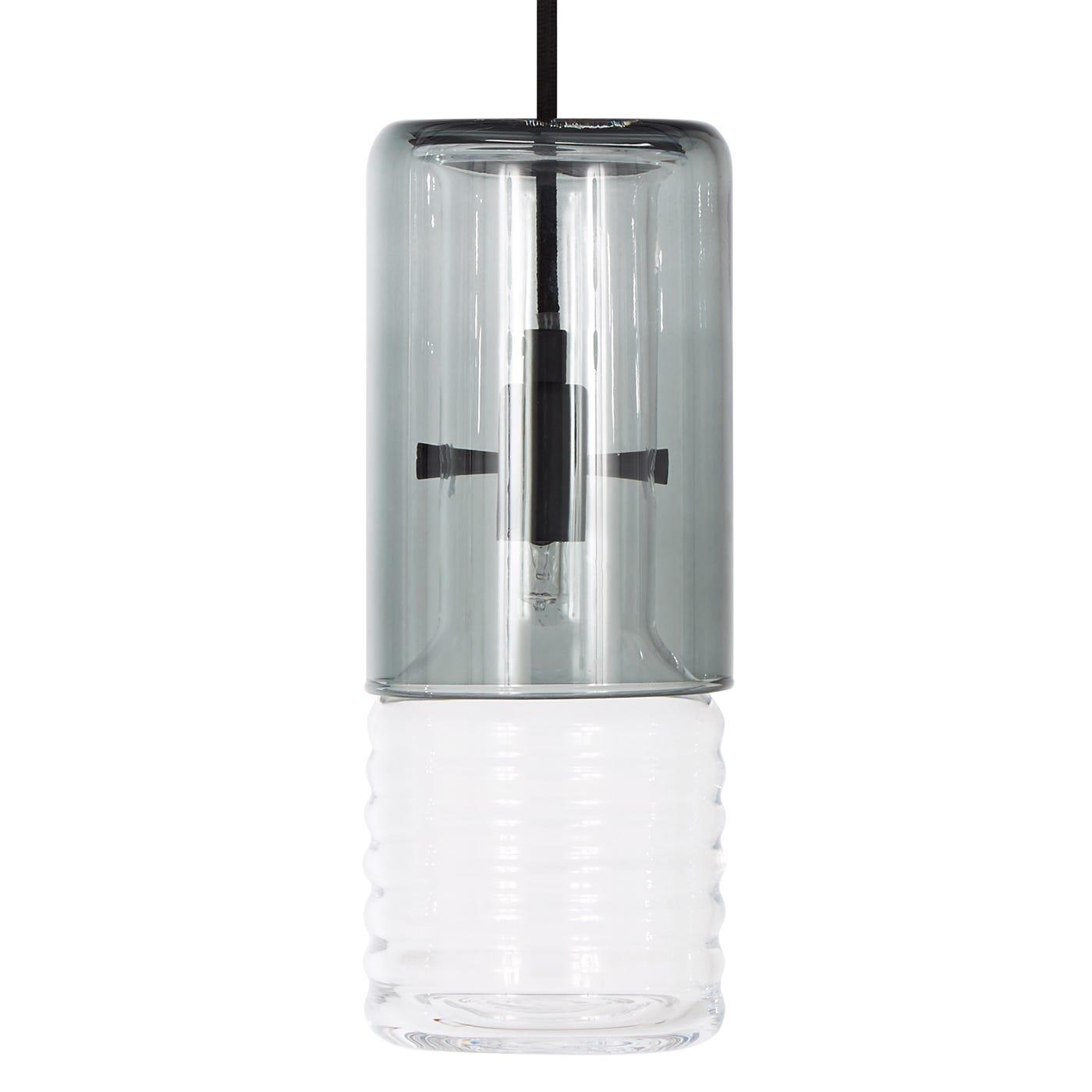 Flask Pendant Smoke Long
