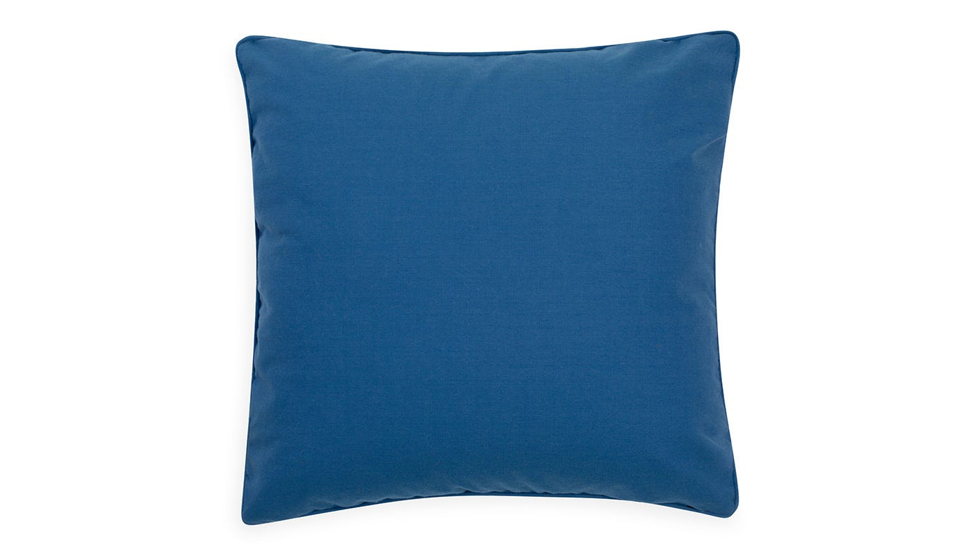 Marble Velvet Cushion Blue - reverse