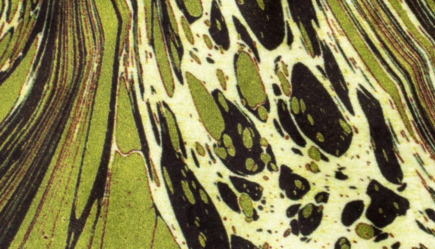 Marble Velvet Cushion Green - detail