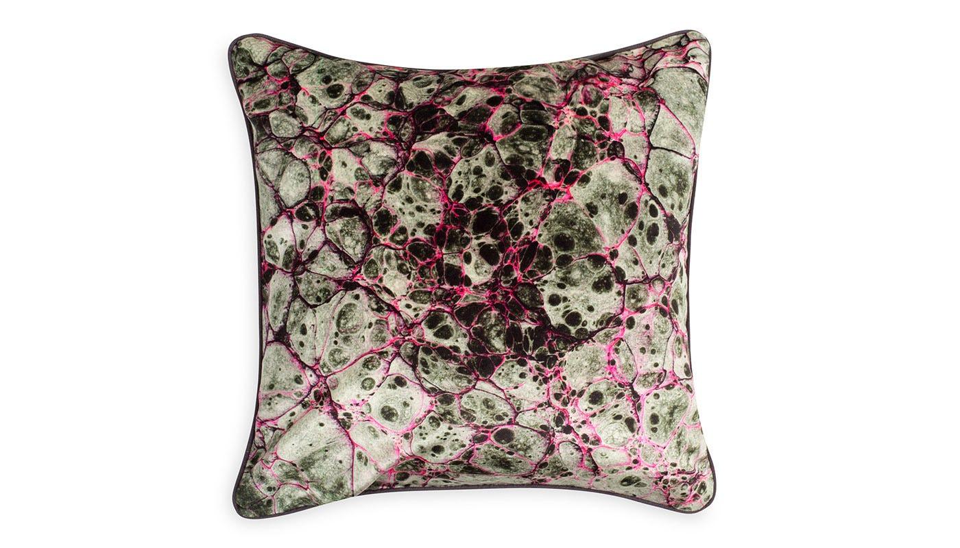 Marble Velvet Cushion Grey
