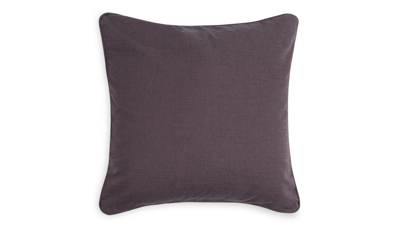 Marble Velvet Cushion Grey - reverse