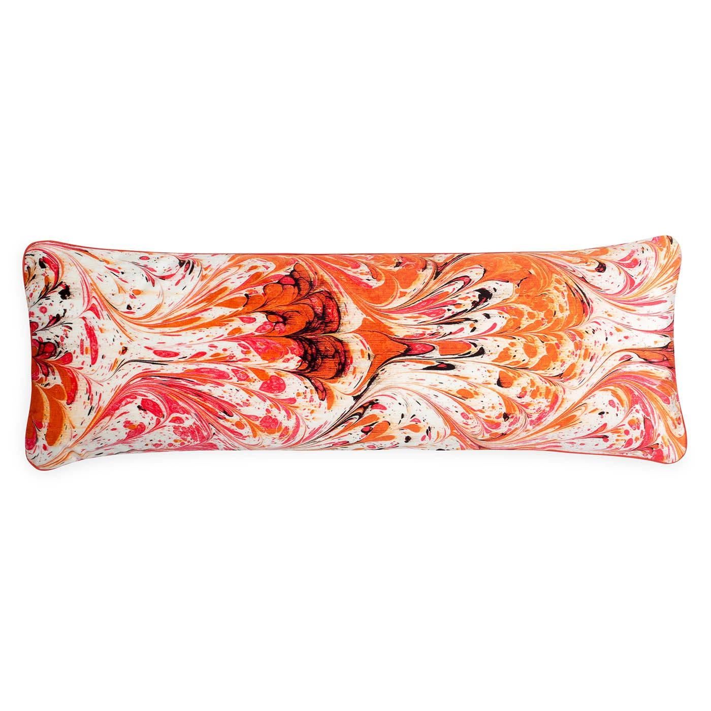 Marble Velvet Bolster Cushion