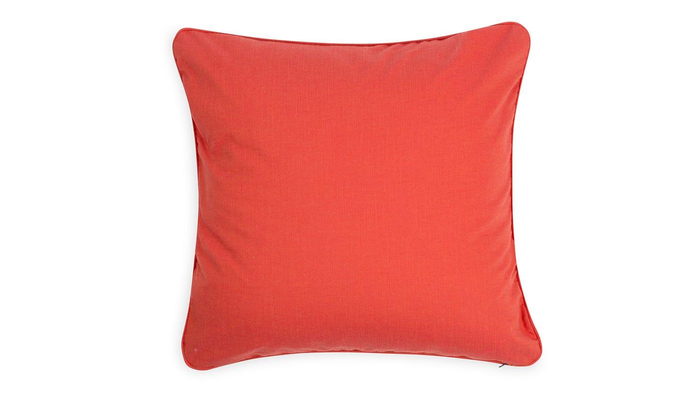 Marble Velvet Cushion Orange - reverse