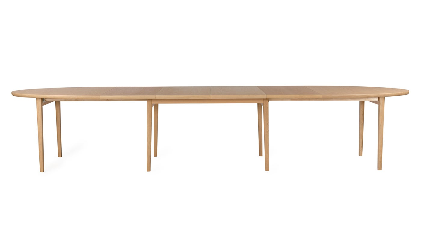Heal 39 s ellipse dining table additional leaves heal s for Dining room table with extra leaves