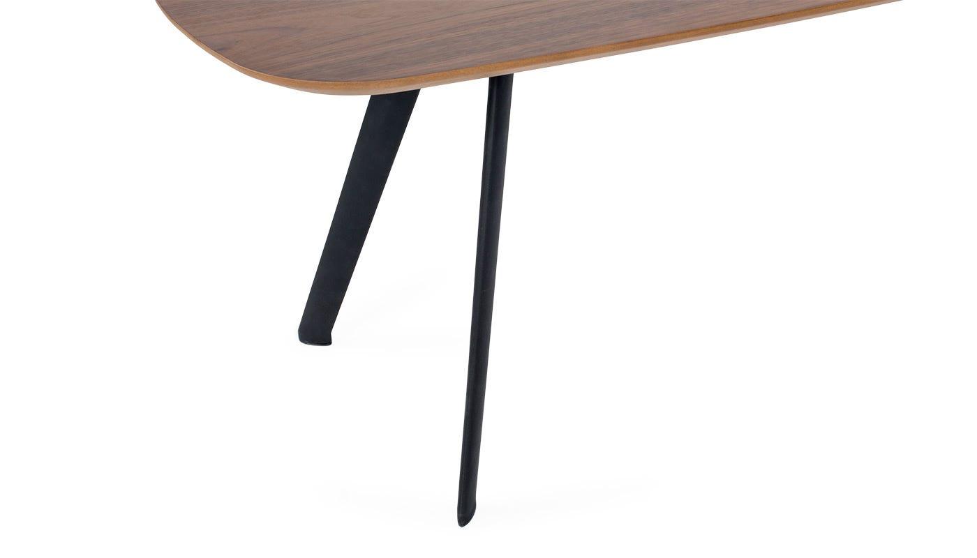 Solapa Small Rectangular Coffee Table Walnut High
