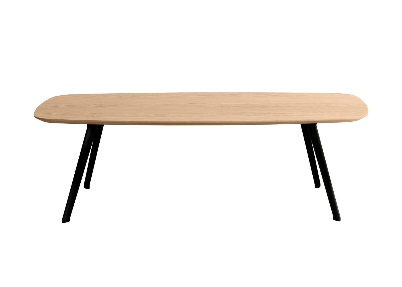 Solapa Small Rectangular Coffee Table Oak High