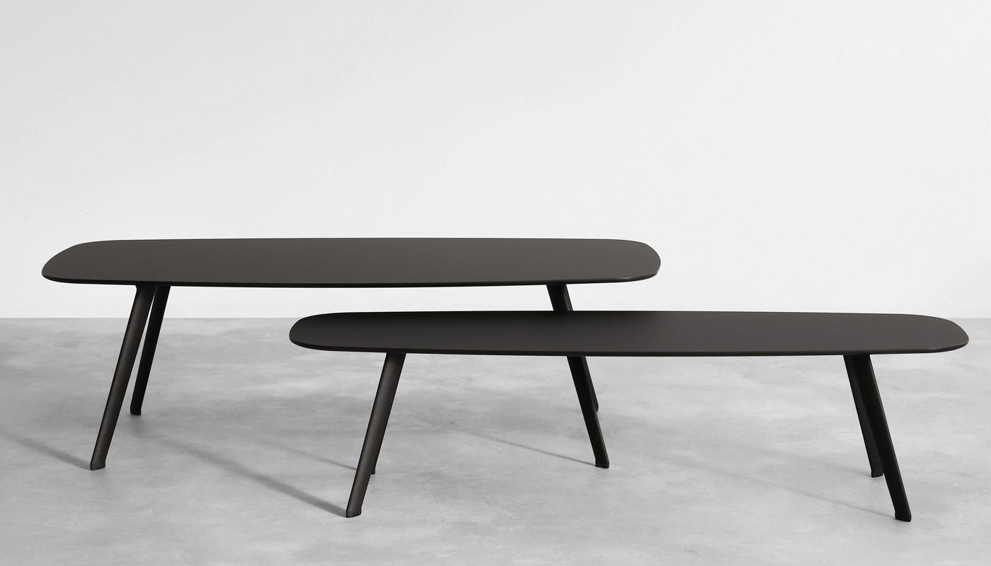 Solapa Small Rectangular Coffee Table in Black