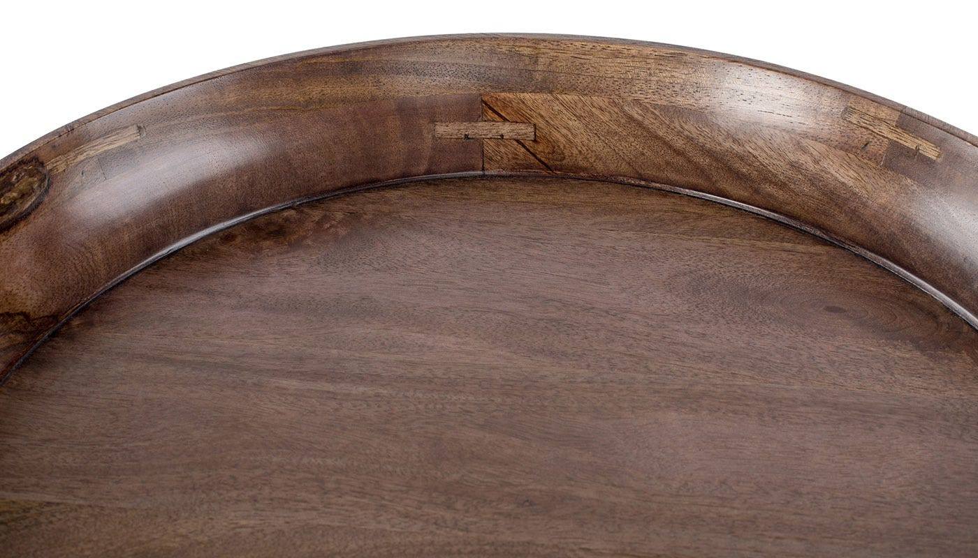 Grey Stained Mango Wood detail