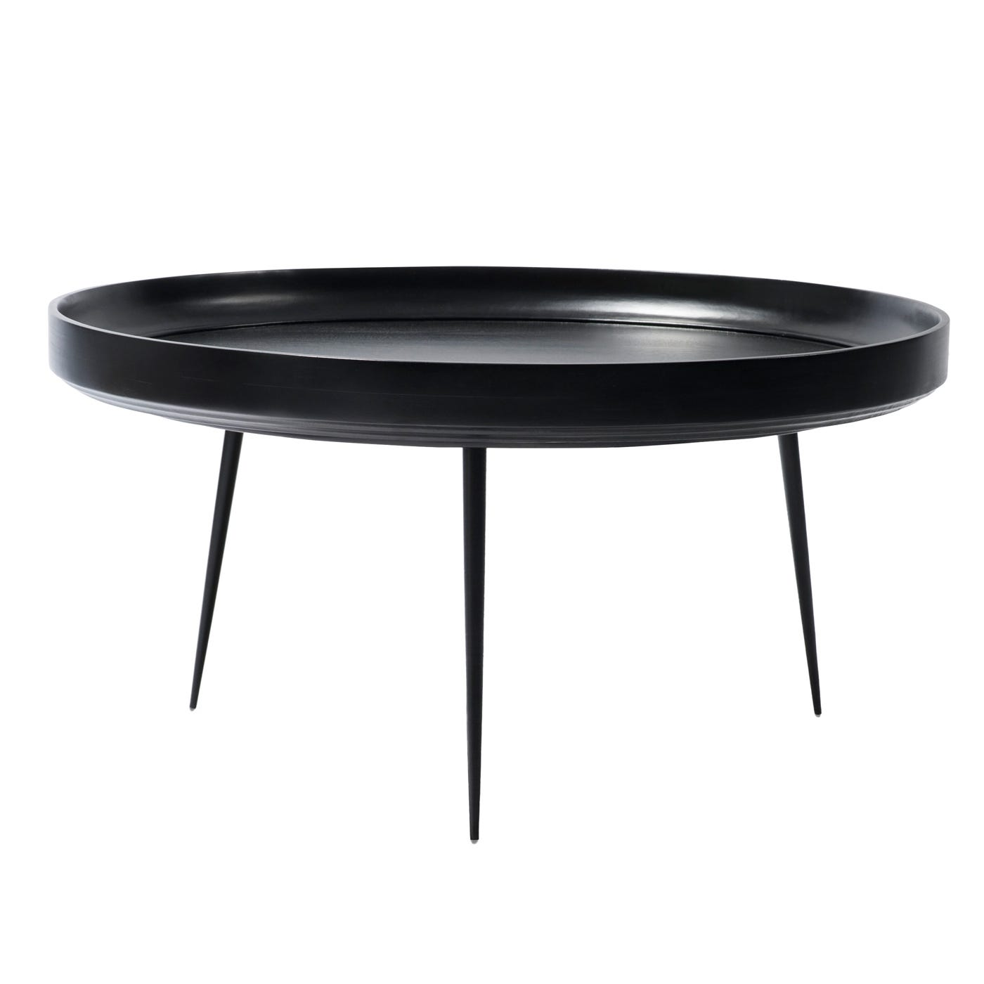 Bowl Table Extra Large Black Stained Mango wood