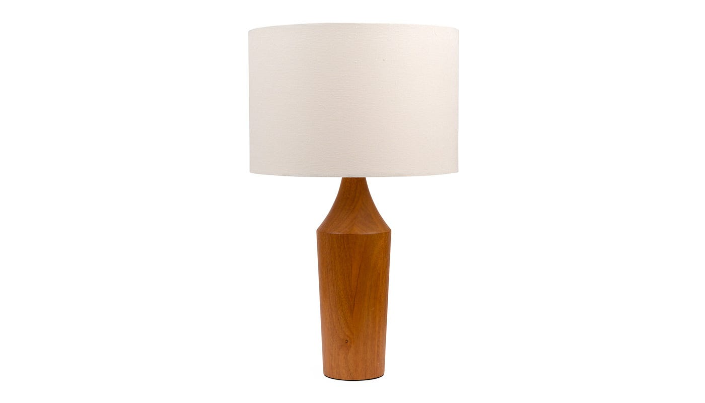 Bertie Lamp with Lucerne Shell Shade  (off)