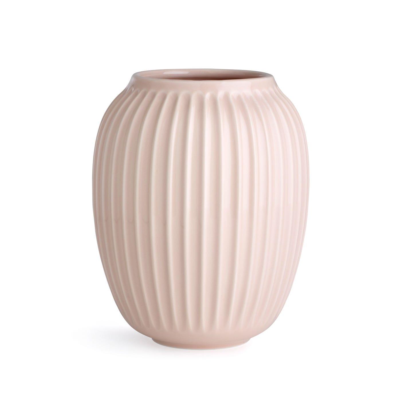 Hammershoi Ridged Vase Large Pink