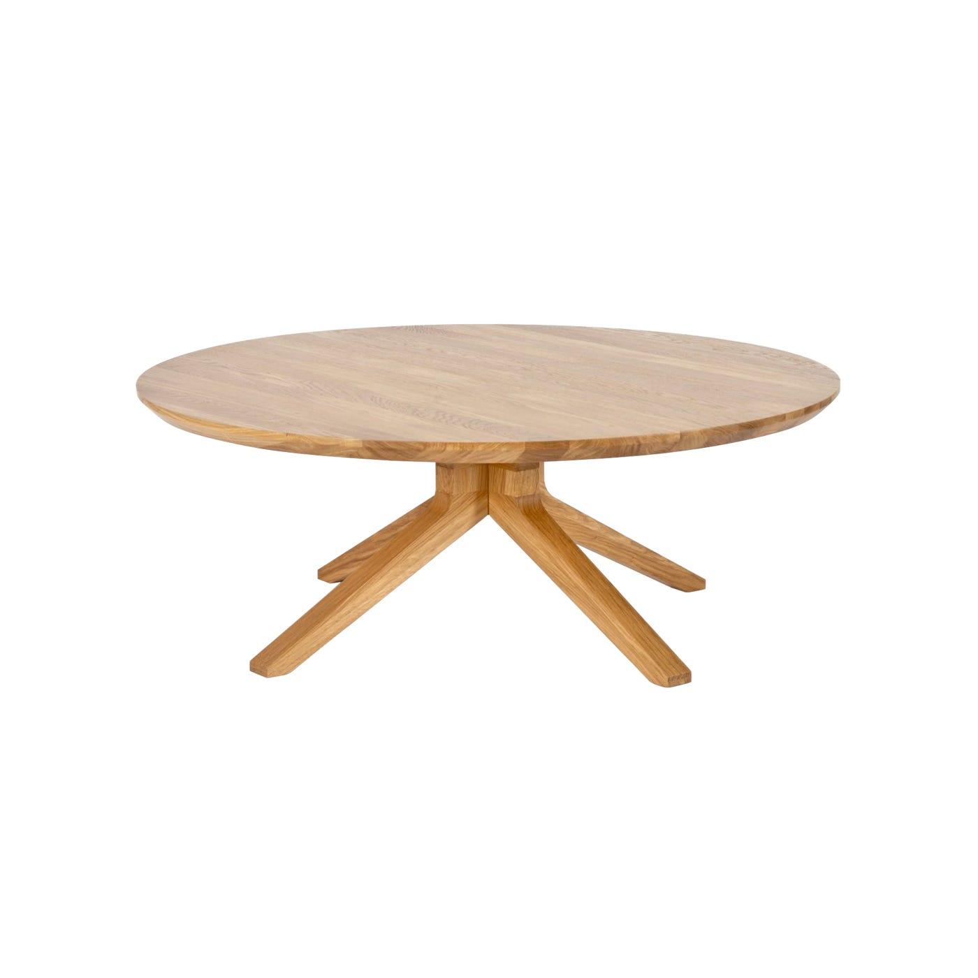 Cross Oak Round Coffee Table