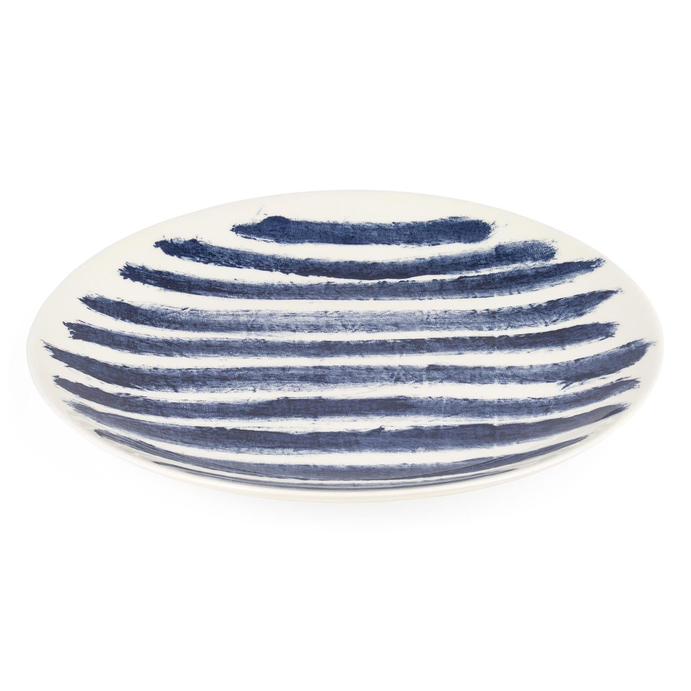Indigo Rain Dinner Plate