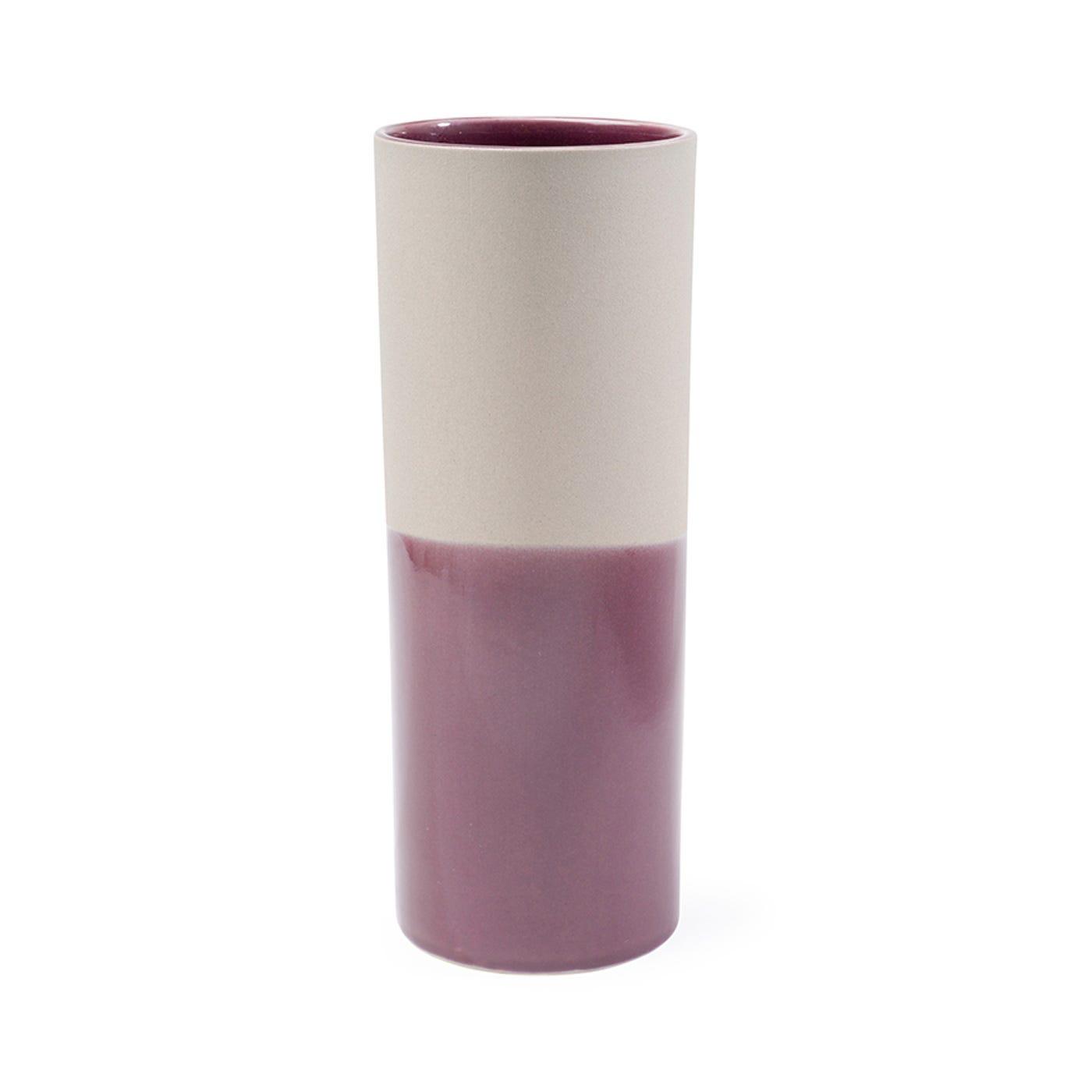 Dual Tone Vase Stone & Berry