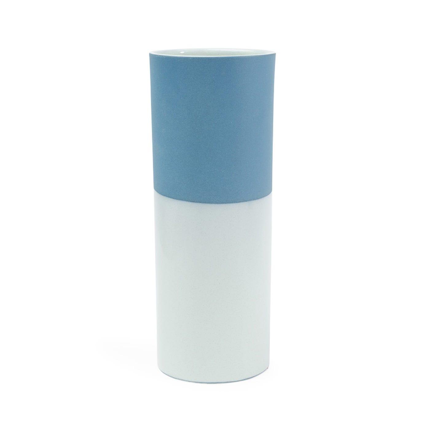 Dual Tone Vase Mint & Blue