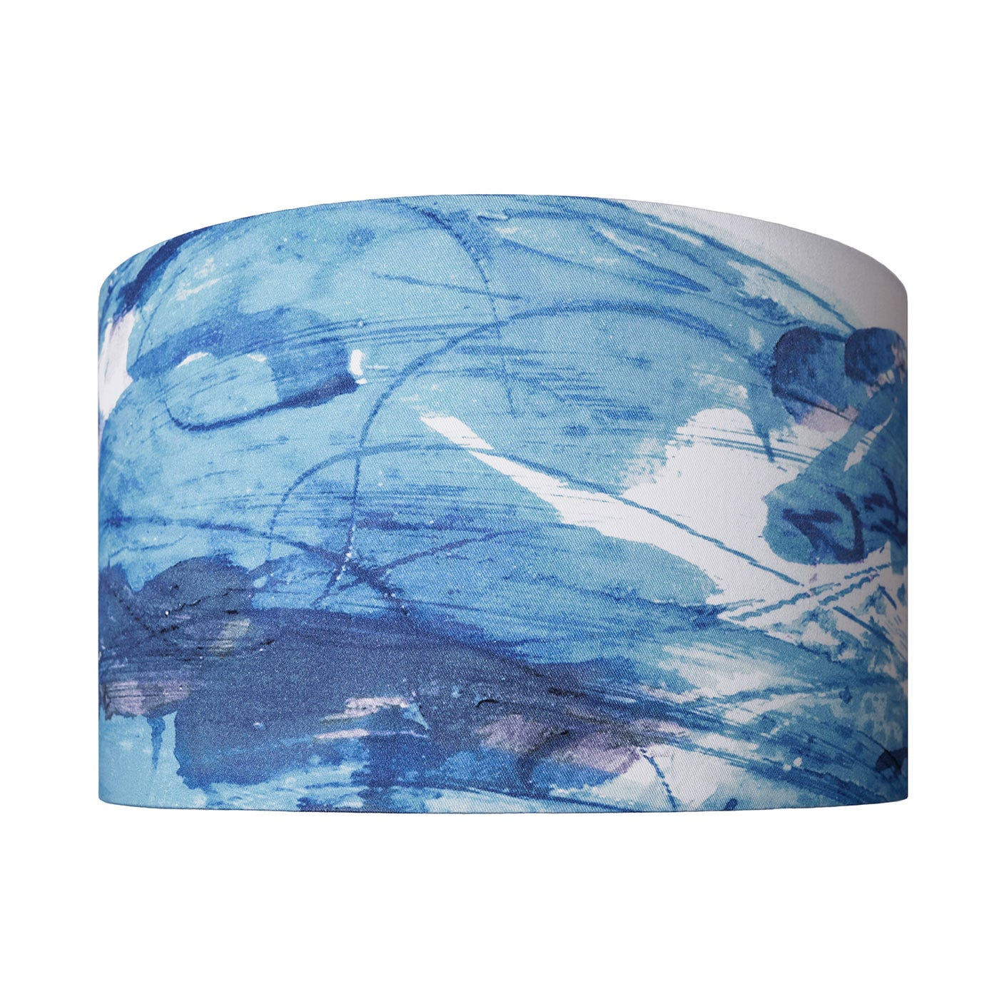 Sedum Detail in Blue Lampshade