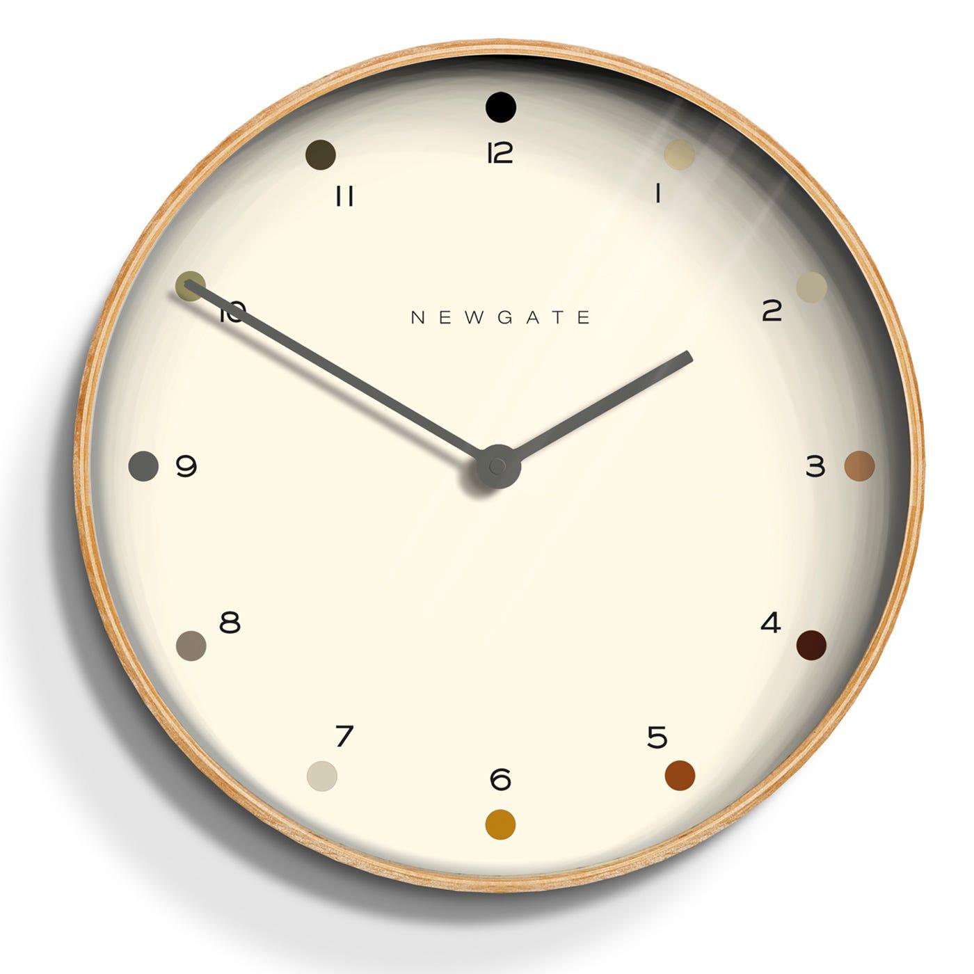 Mr Clarke Wall Clock Pale Dot Small