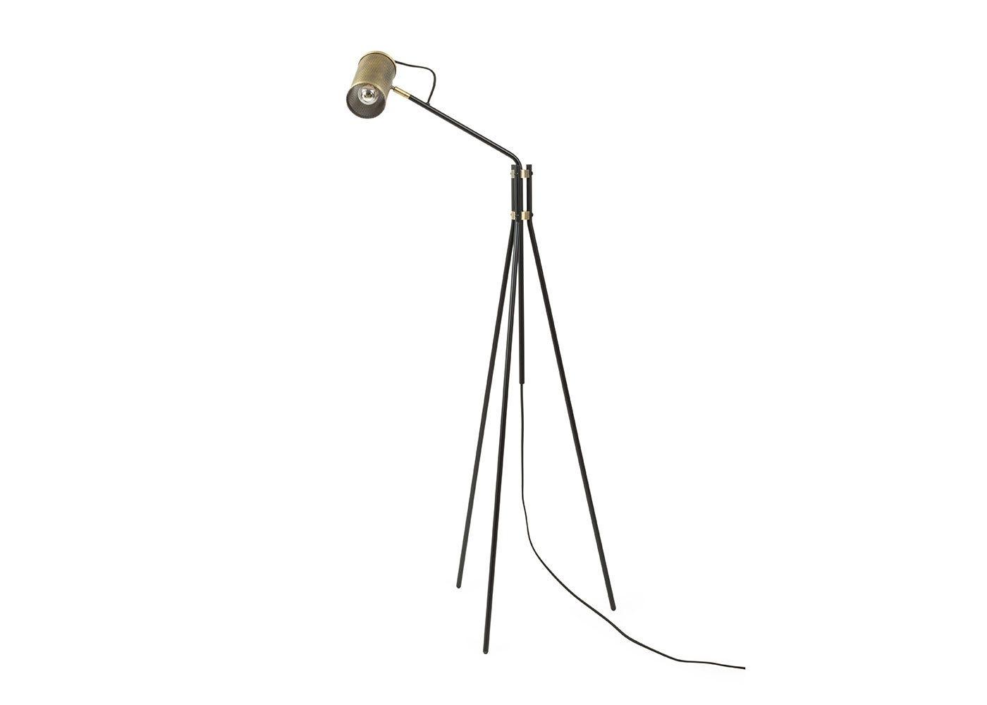 Heal\'s Carter Task Floor Lamp Brushed Antique Brass | HEAL\'S