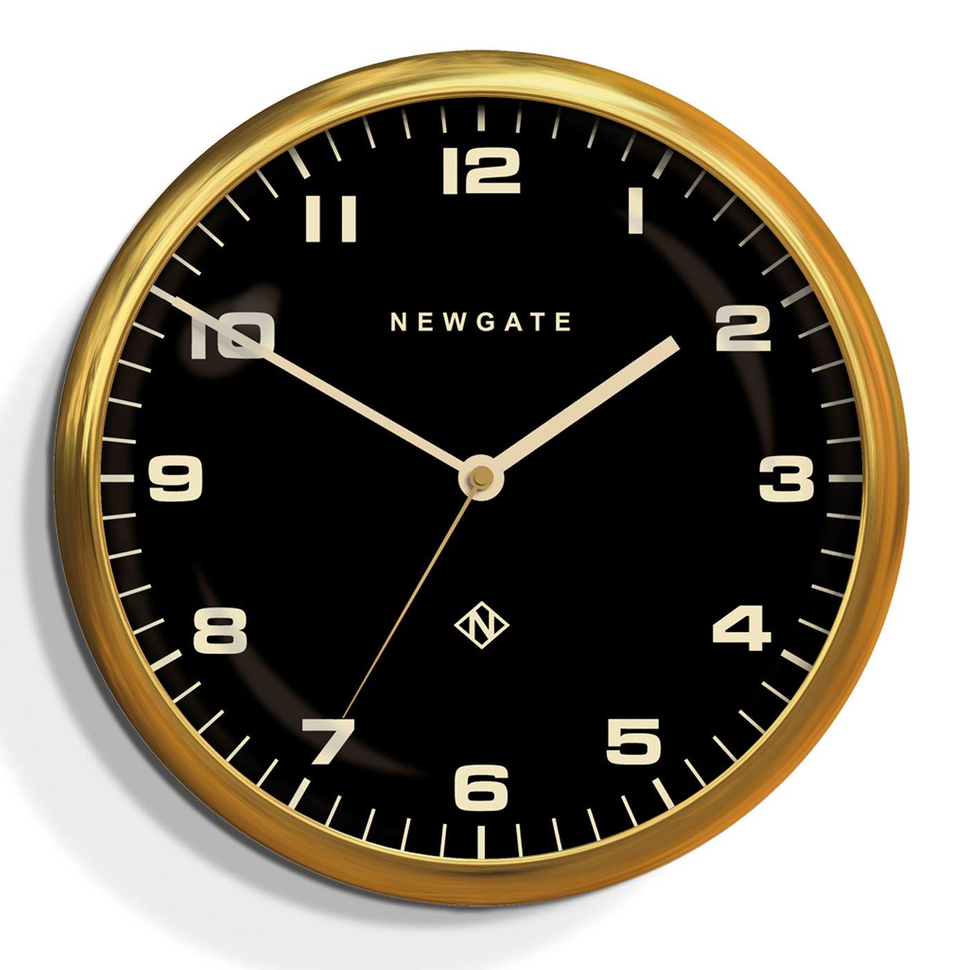 Chrysler Wall Clock Brass