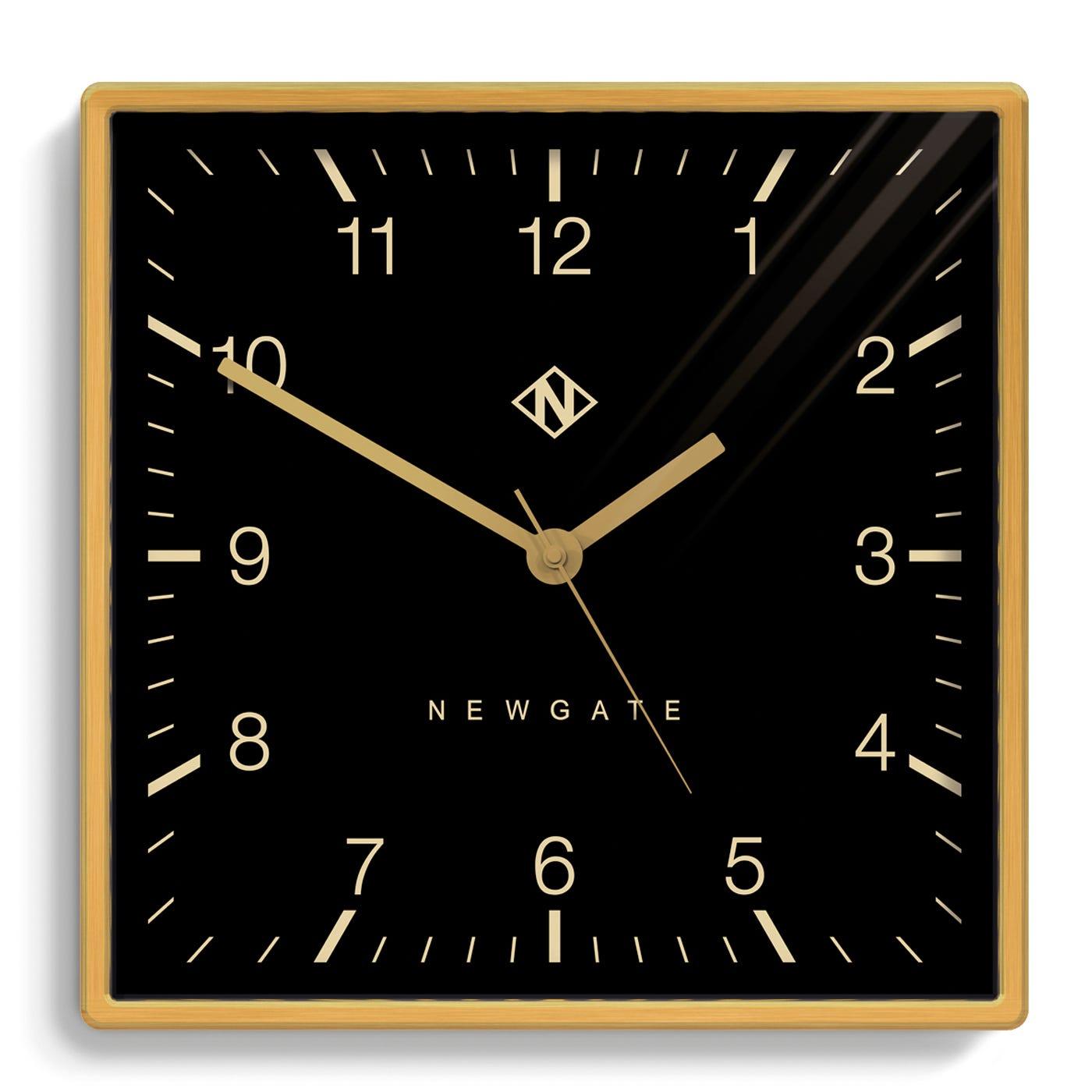 Underpass Wall Clock Brass
