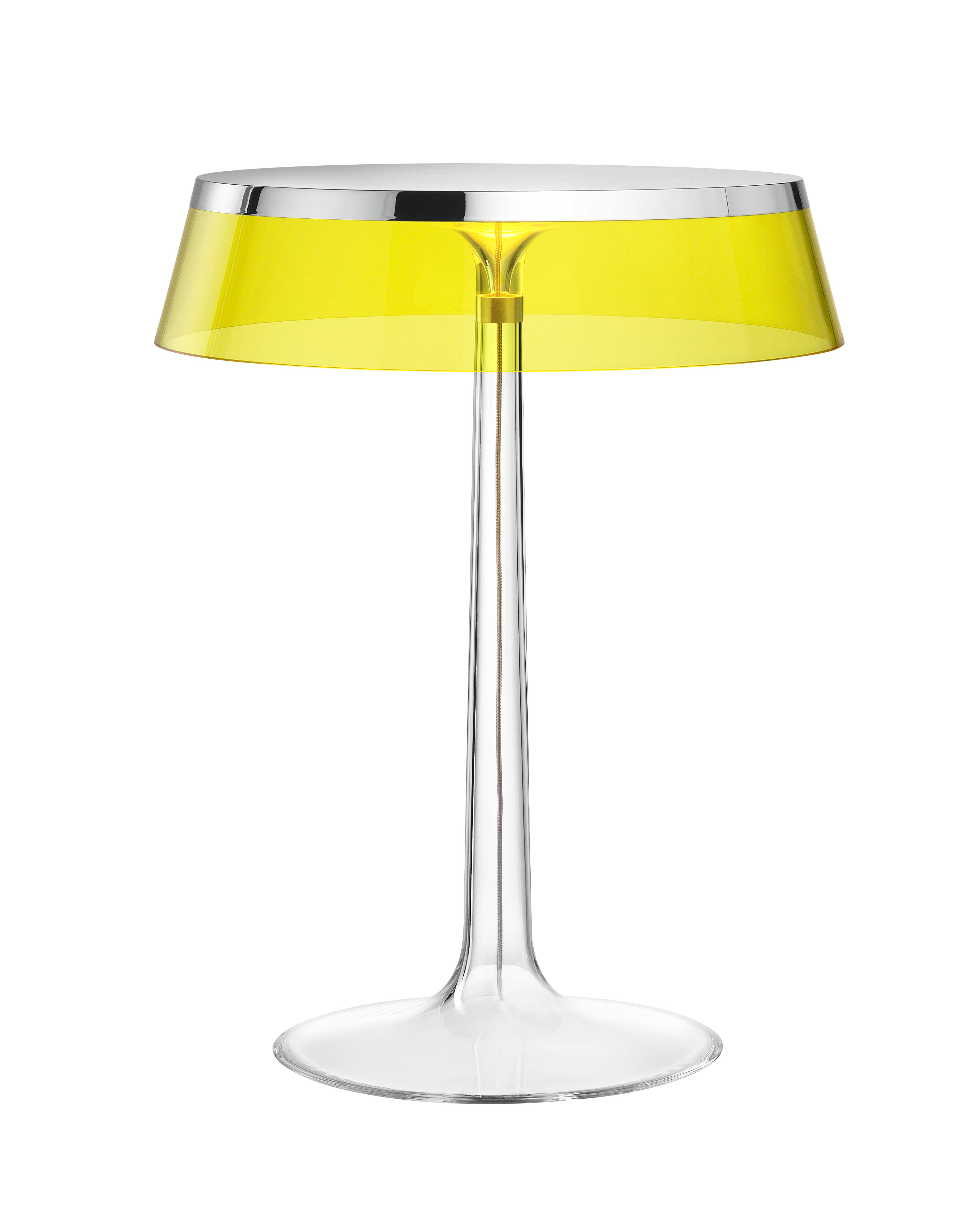 Yellow lamp base - Click To Enlarge View Dimensions