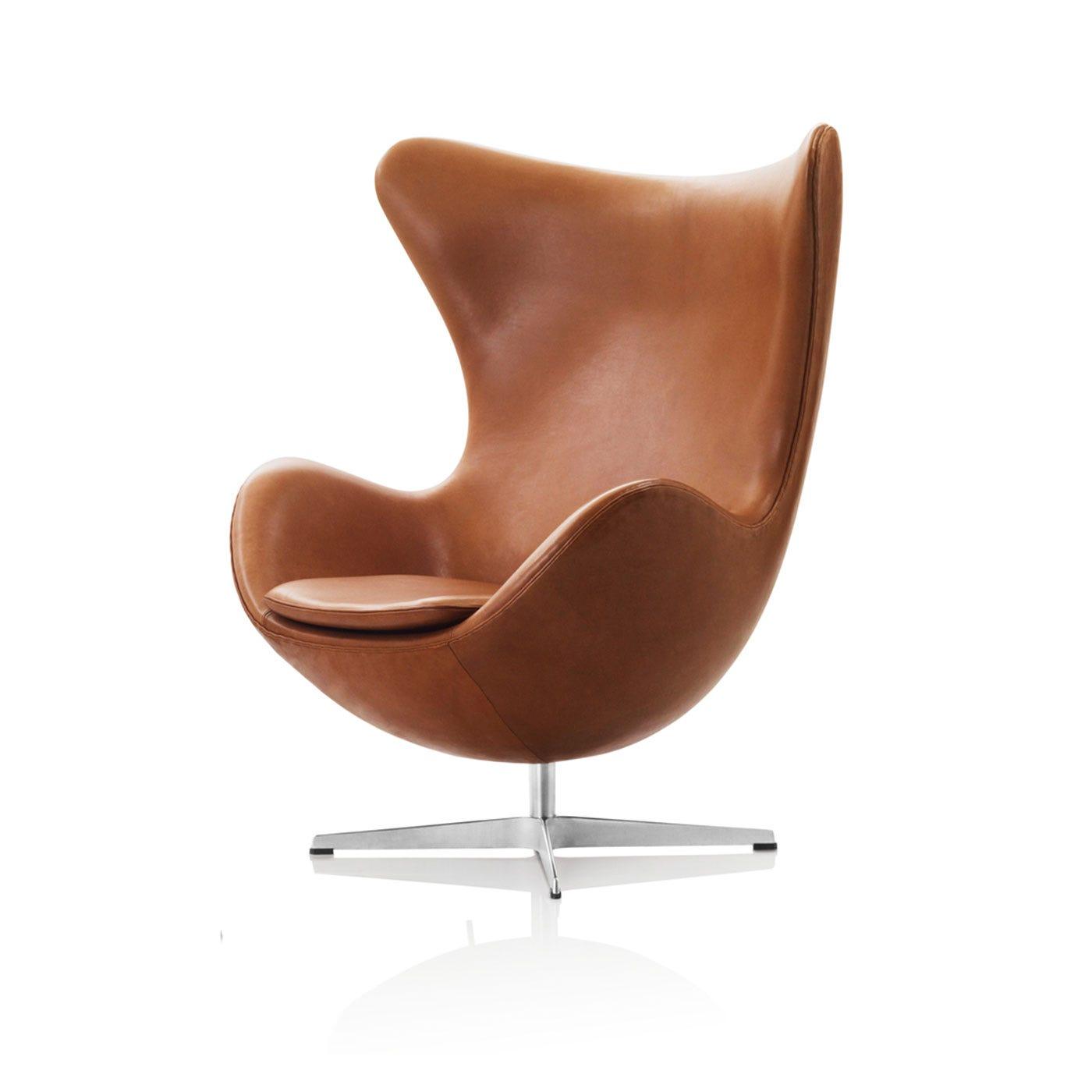 Egg Chair Dark Brown Elegance Leather