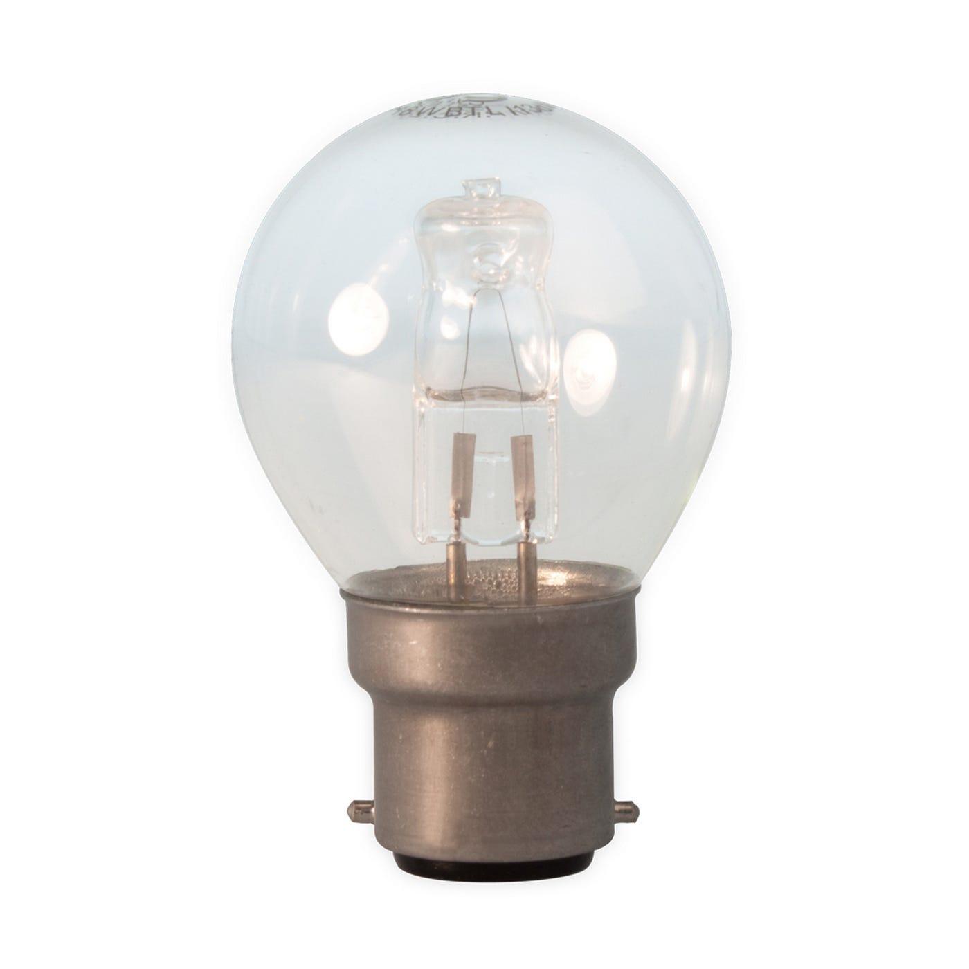 Halogen Ball Lamp 28W Clear B22
