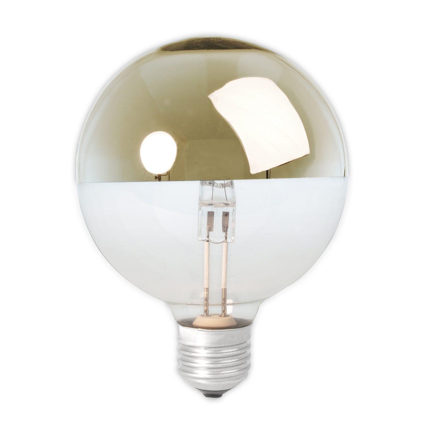 Halogen Top Mirror Globe Lamp Brass 42W E27