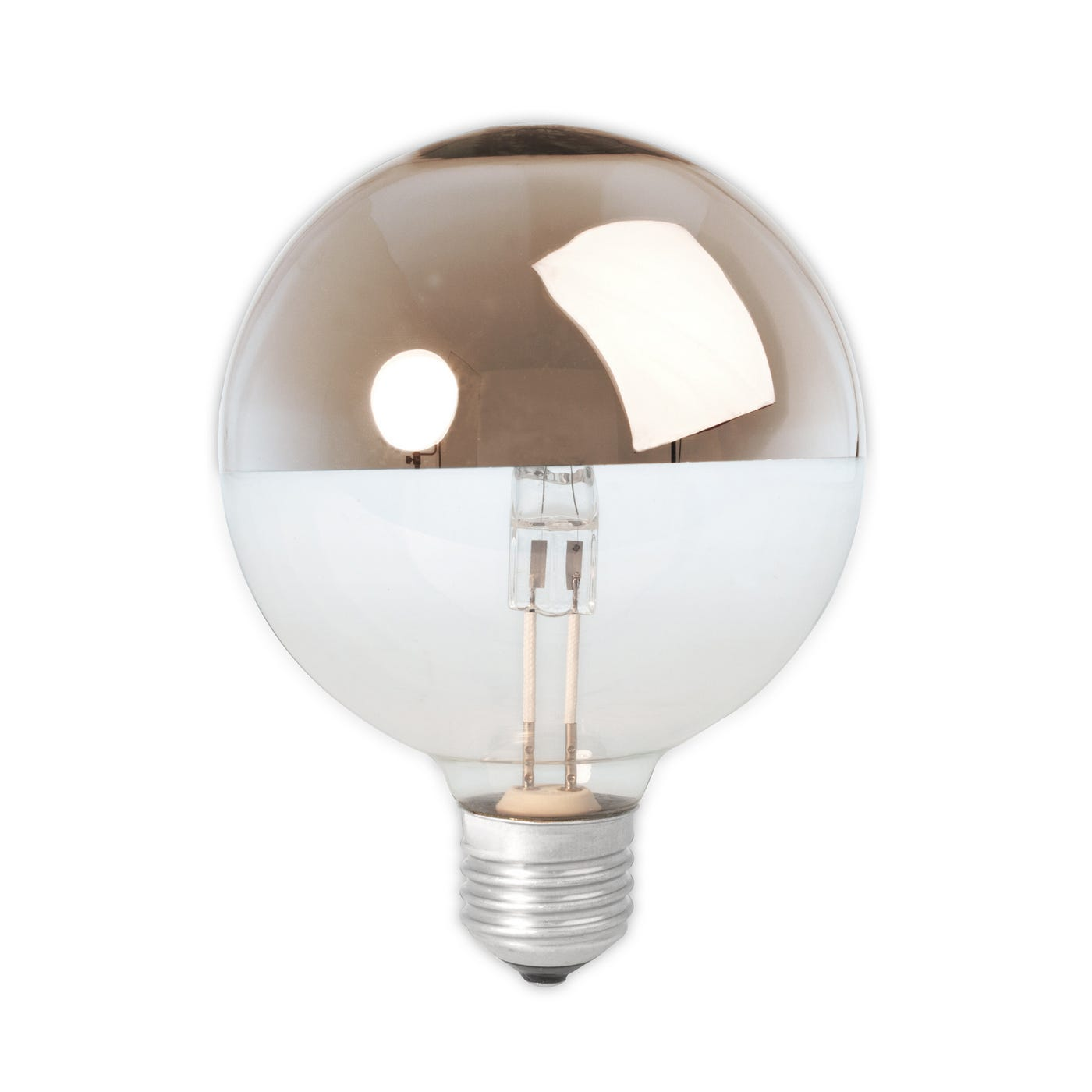 Halogen Top Mirror Globe Lamp Copper 42W E27