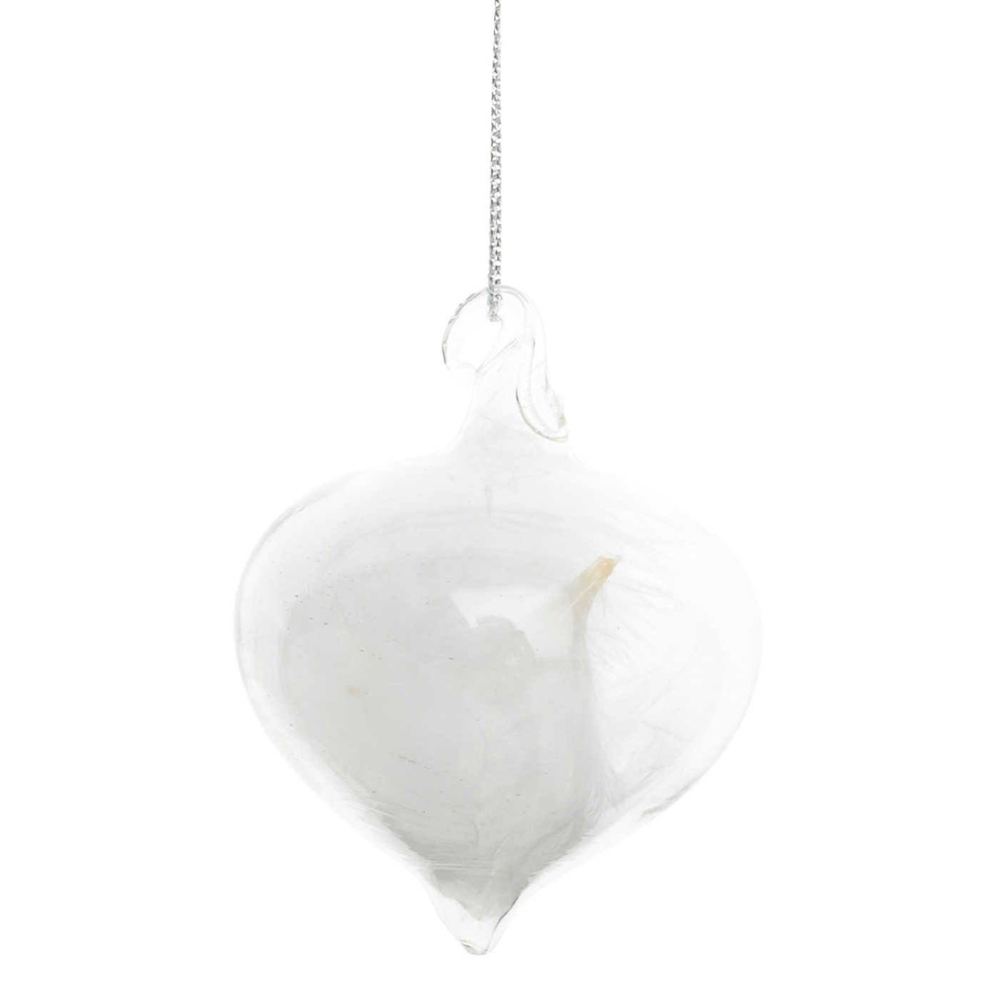 Clear Decoration Sultan Feather Small H:5cm