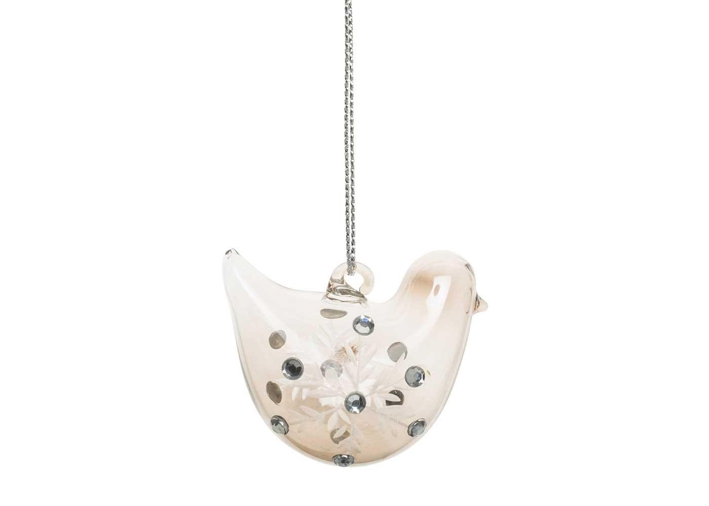 Robin Decoration Smoke Jewel H:5cm
