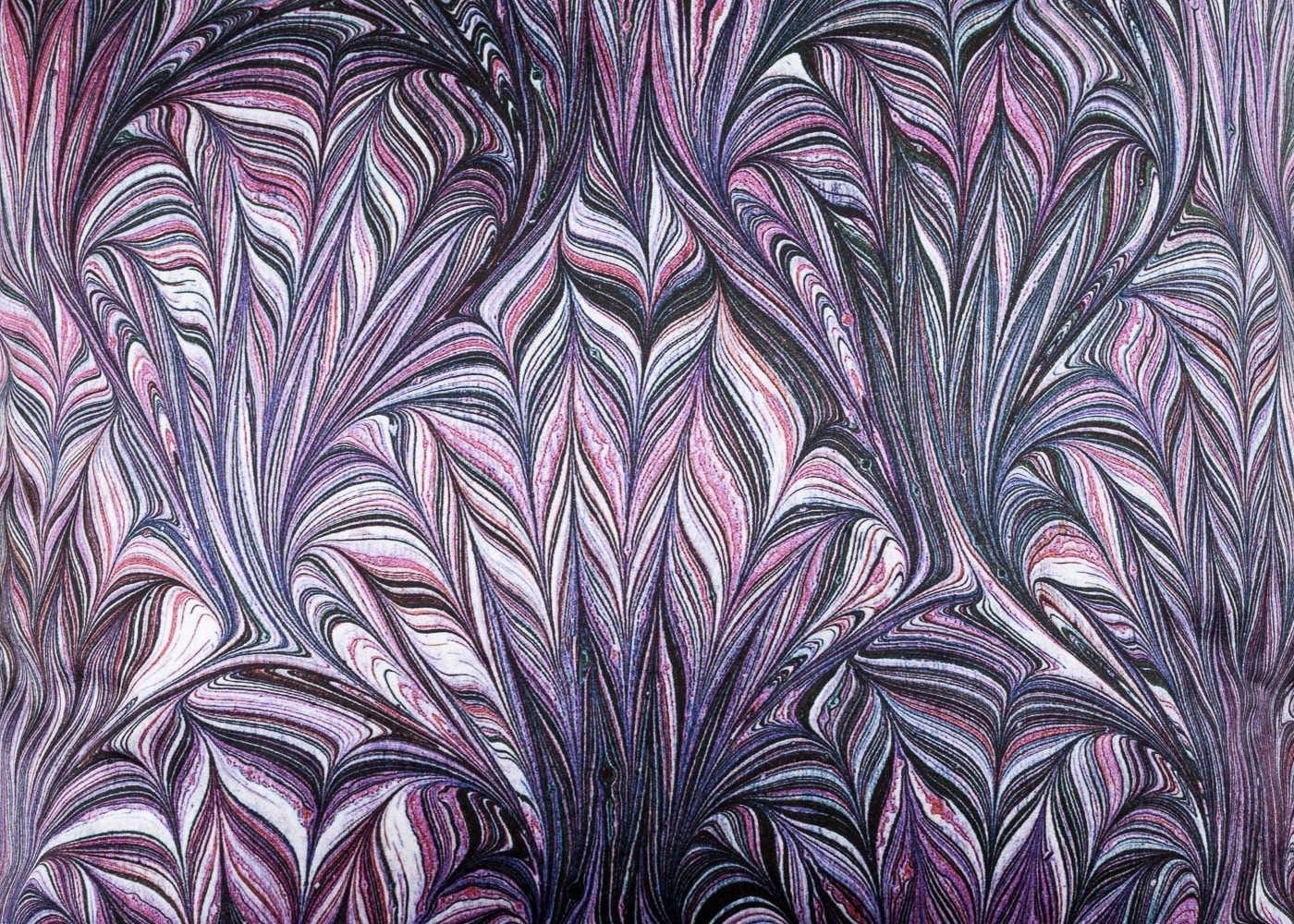 Marble Velvet Cushion Purple - detail