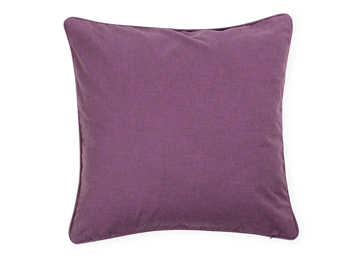Marble Velvet Cushion Purple - reverse