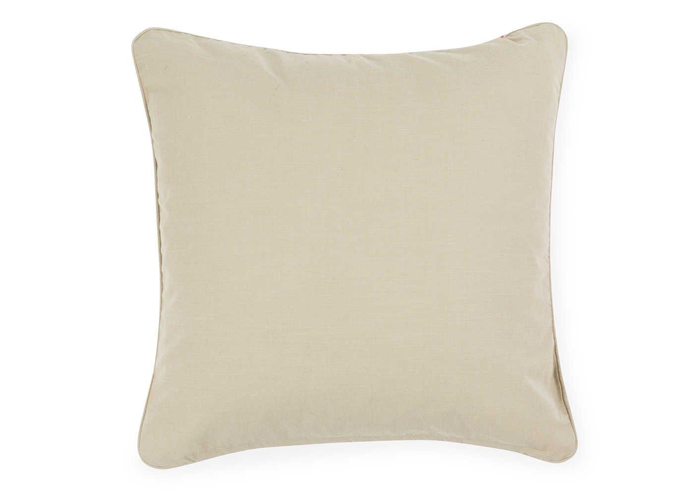 Marble Velvet Cushion White - reverse