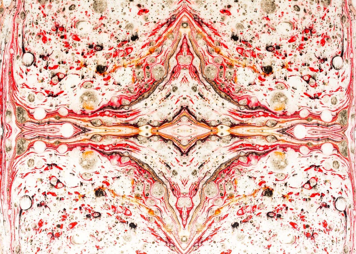 Marble Velvet Cushion White - white