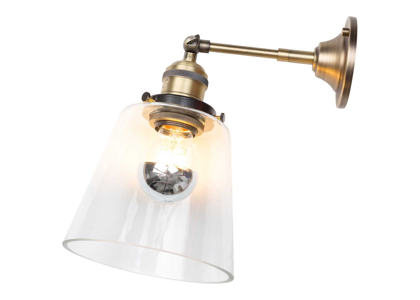 Olson cloche wall light clear on