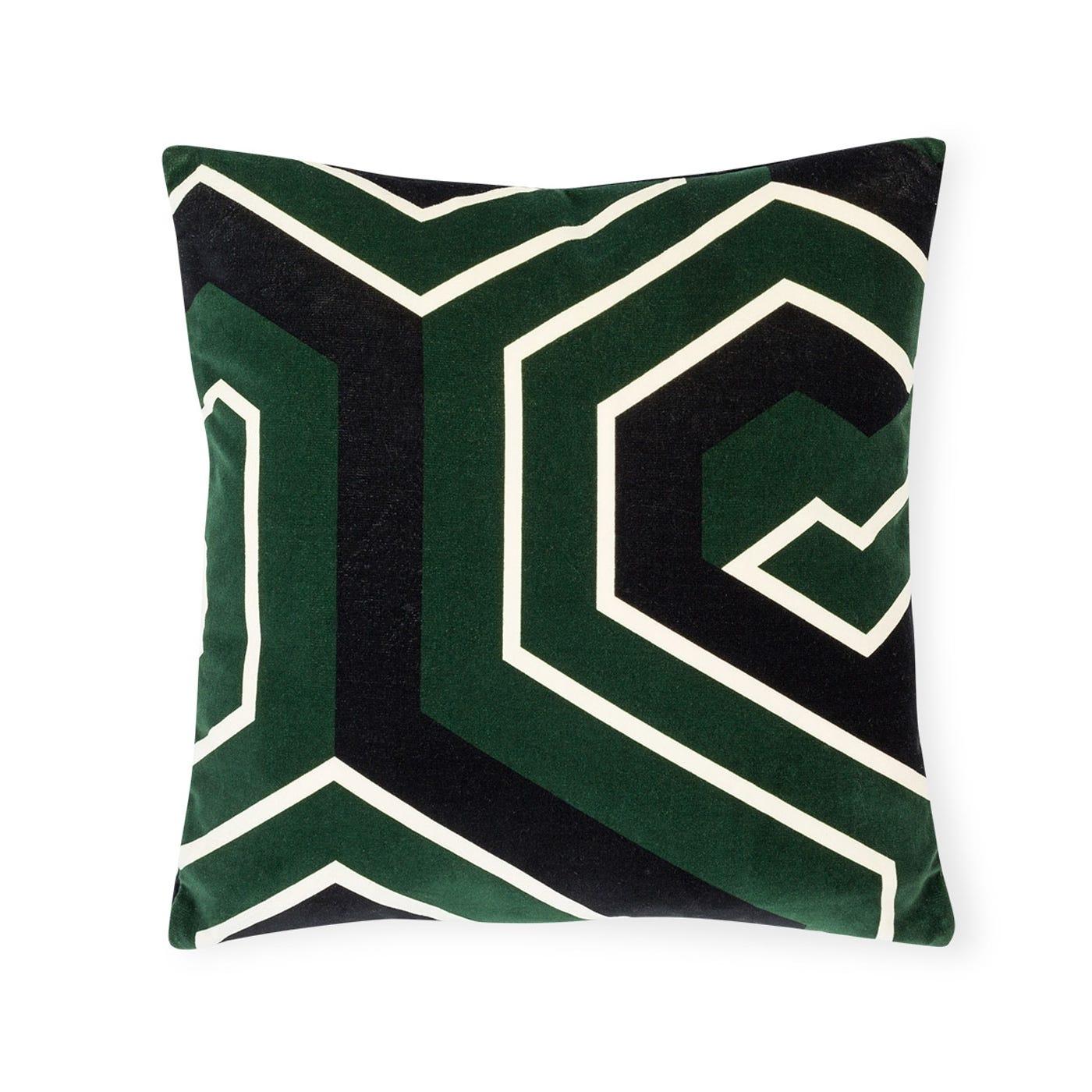 Velvet Geo Cushion