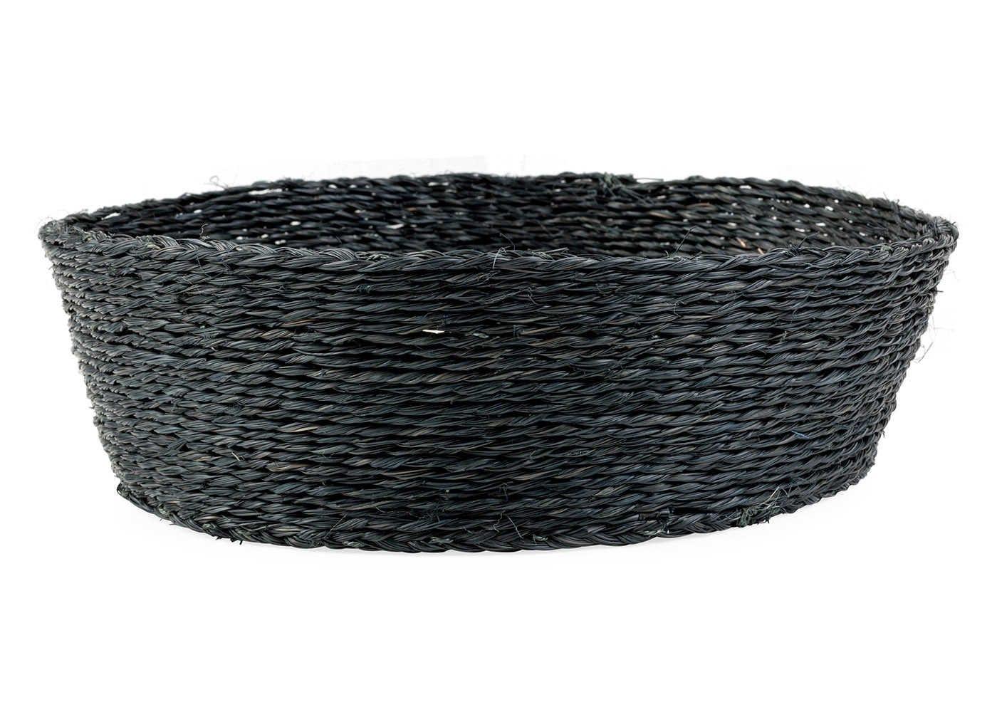 Gone Rural Round Basket Solid Black Large