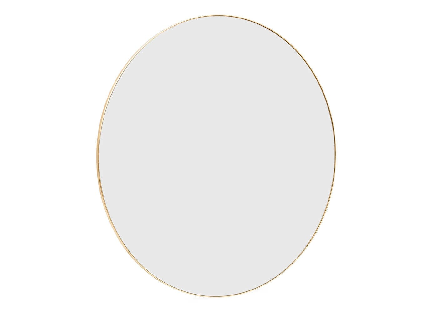 Gold mirror large front on