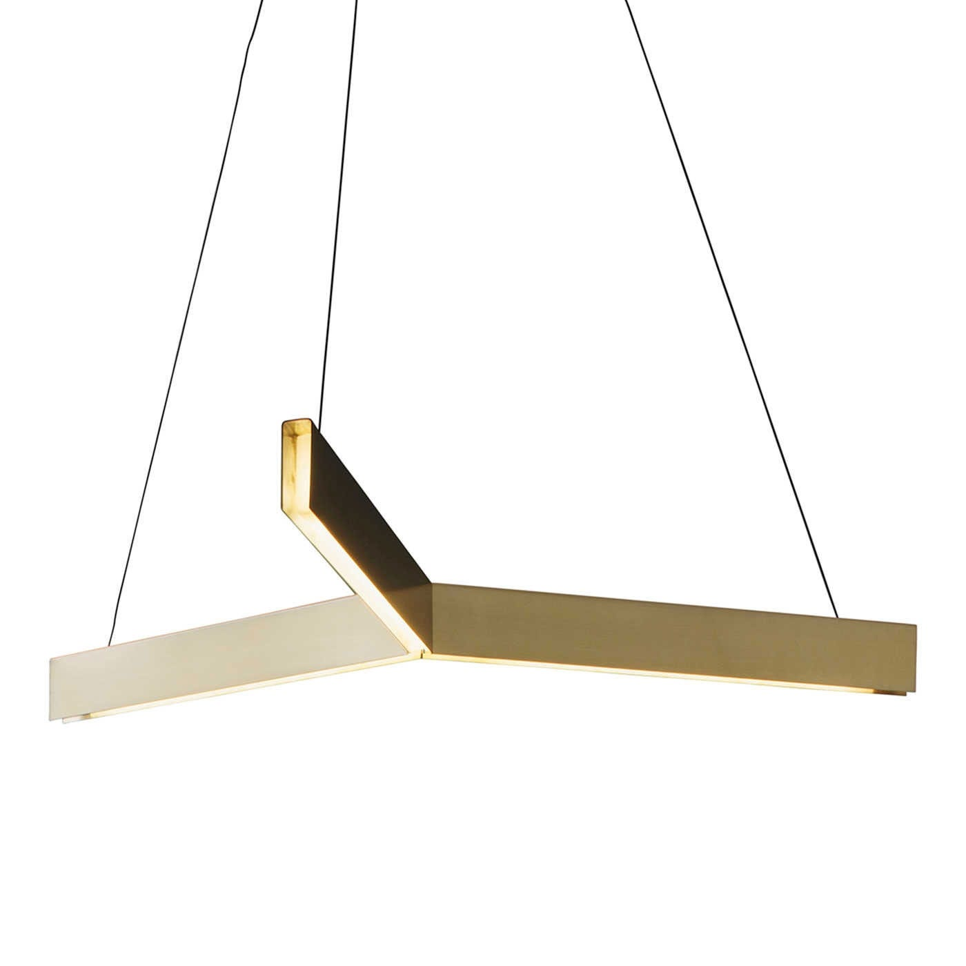 Tri Pendant LED Brass