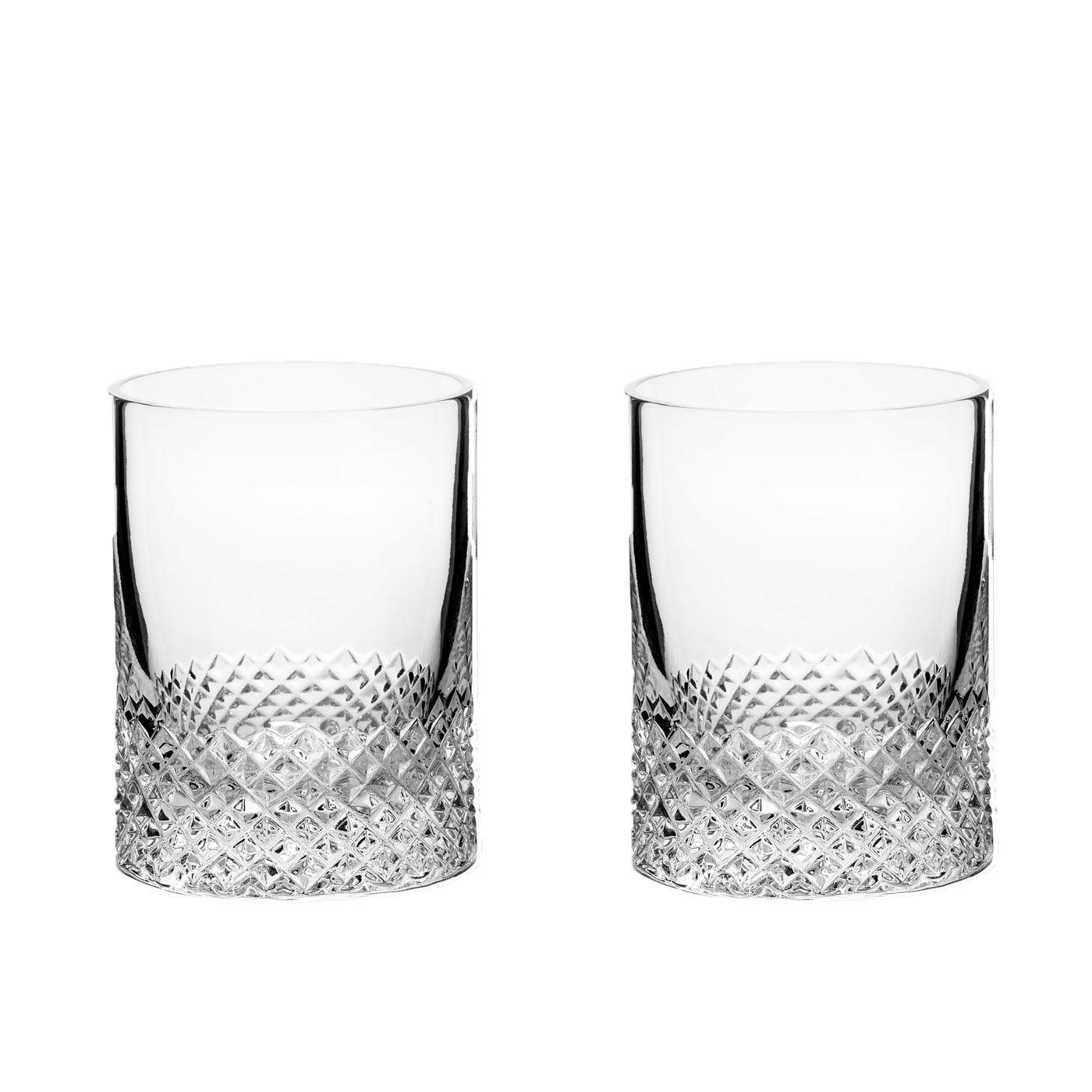 Diamond Shot Glasses Set of 2