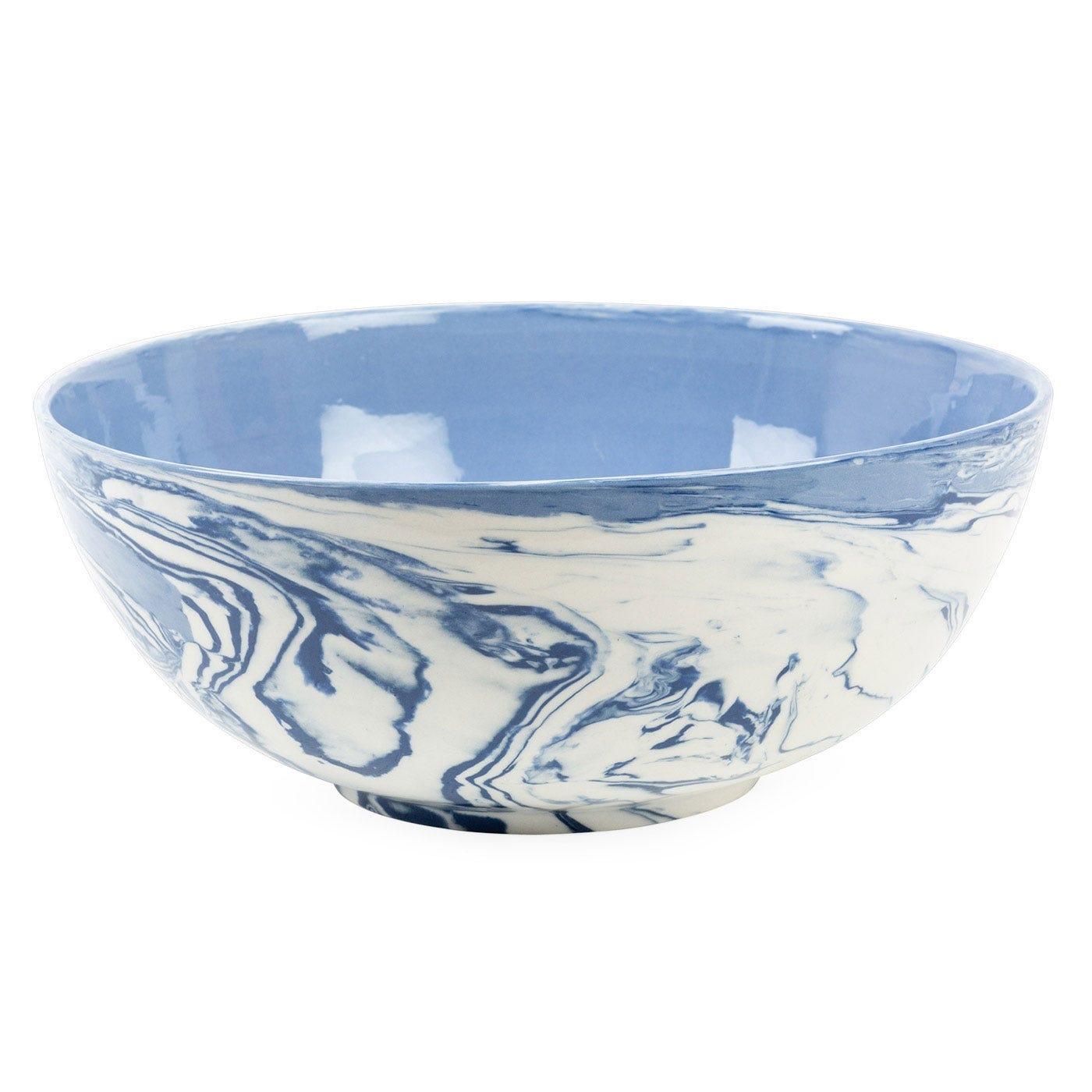 Blue Marble Salad Bowl