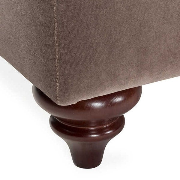 Beautifully turned front feet available in chestnut, natural and black