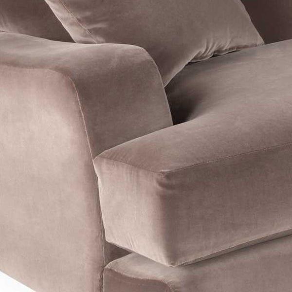 Deep cushions creating inviting seating