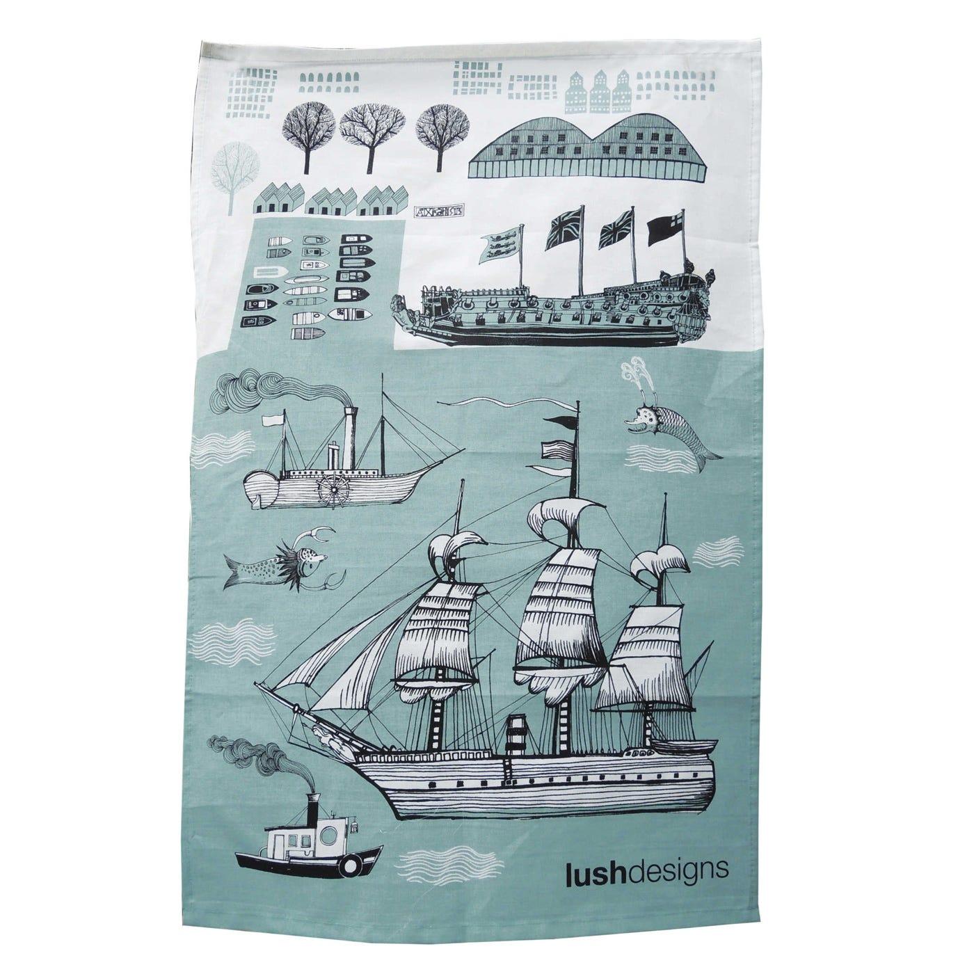 Tea Towel Ship