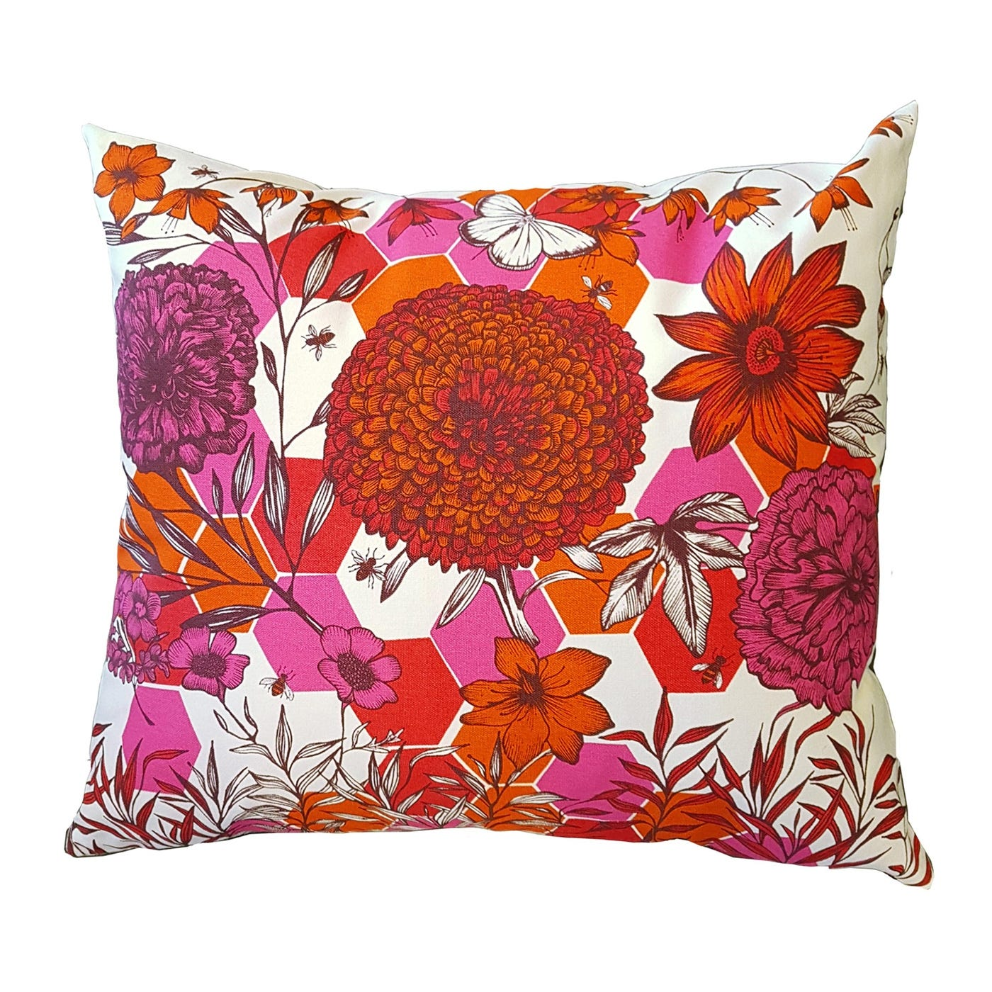 Cushion Flower and Tiles