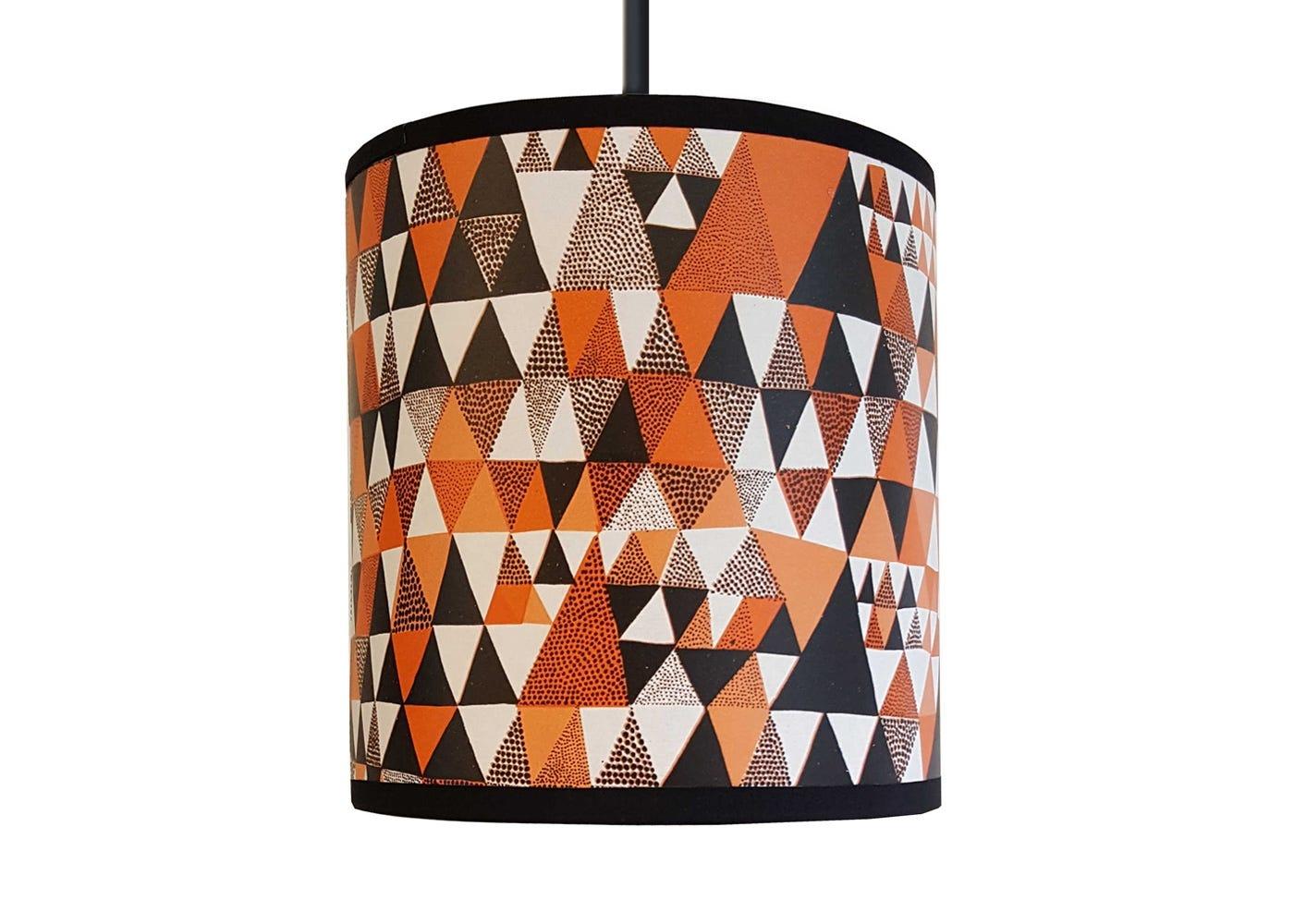 Lampshade Orange Triangles Small